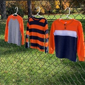 (3) Long sleeve thermal waffle tops 3T